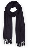Reiss Temple - Oversized Fringed Scarf in Blue, Womens