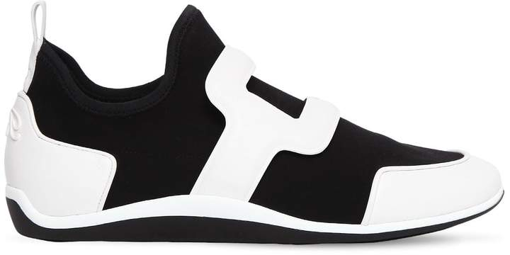 Roger Vivier Sporty Viv Leather & Neoprene Sneakers