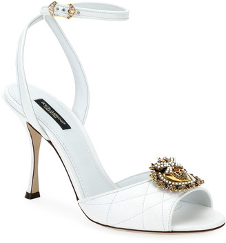 Dolce & Gabbana Devotion Stitched Sandals with Crest