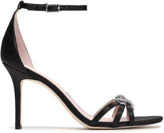 Kate Spade Ingrida Crystal-embellished Satin Sandals