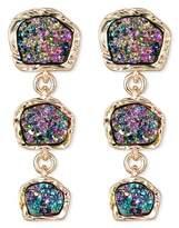 SUGARFIX by BaubleBar Druzy Drop Earrings - Rainbow