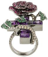 Lydia Courteille diamond, ruby and amethyst ring