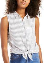 Levi's Women's Sleeveless Button-Down Top