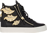 "Giuseppe Zanotti Men's ""Cruel"" Double-Zip Sneakers-BLACK"