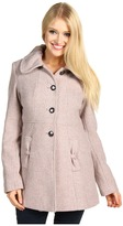 Jessica Simpson - Wool Tweed SB Button Front Babydoll Coat (Blush) - Apparel