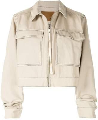 G.V.G.V. contrasting stitch cropped jacket