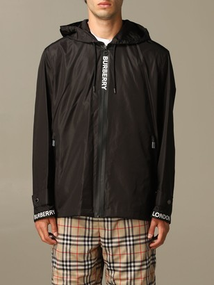 Burberry Nylon Jacket With Zip And Hood