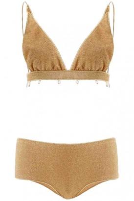 Osã©Ree OsAree Gold Polyester Swimwear