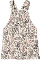 Joe Fresh Toddler Girls' Print Cord Skirt Overall, Off White (Size 2)