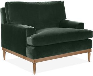 One Kings Lane Sutton Club Chair - Forest Green Velvet
