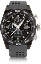 Locman Stealth 300mt Dark Gray Stainless Steel and Titanium Men's Chronograph Watch