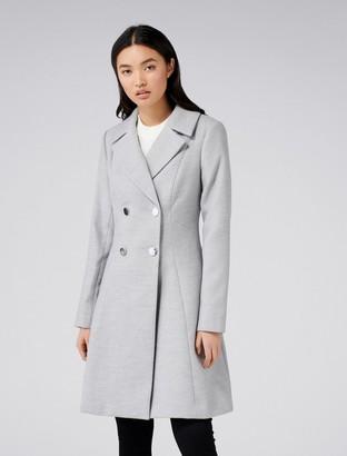 Forever New Paige Skirt Coat - Grey - 4