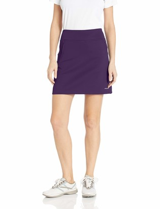 Cutter & Buck Women's Moisture Wicking Double Knit Stretch Interval Pull on Skort