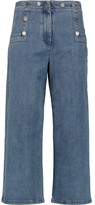 Tibi Sailor high-rise wide-leg jeans