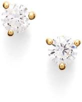 Nordstrom Women's Precious Metal Plated 0.25Ct Tw Cubic Zirconia Stud Earrings