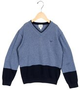 Armani Junior Boys' Long Sleeve V-Neck Sweater