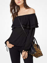 Michael Kors Ruffled Off-The-Shoulder Blouse