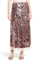 Tory Burch Cove Sequin Maxi Skirt