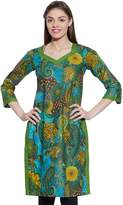 KOKOM Women Cotton Indian Kurti Tunic Top Long Ethnic Blouse Kurta Gift For Her