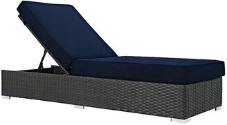 One Kings Lane Hayden Chaise - Navy