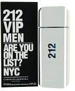 Carolina Herrera 212 Vip by 100ml / 3.4oz Edt Spray for Men