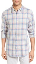 Faherty Men's Seaview Trim Fit Plaid Sport Shirt