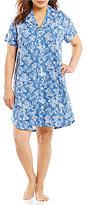 Lauren Ralph Lauren Plus Bandanna-Print Slub Jersey Sleepshirt