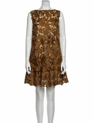 Oscar de la Renta 2020 Mini Dress w/ Tags Brown