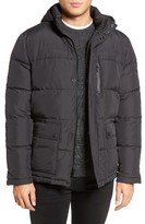 Kenneth Cole New York Men's Hooded Down & Feather Fill Jacket