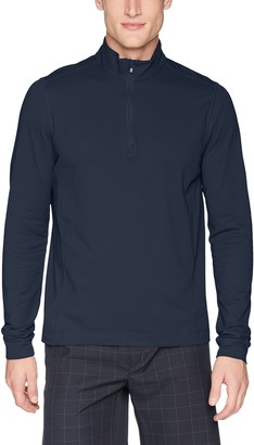 Cutter & Buck Men's Drytec UPF 50+ Cotton Advantage Zip Mock Pullover