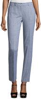 Michael Kors Straight-Leg Ankle Pants, Heather Gray
