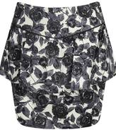 Rose Printed Peplum Skirt