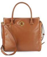 Sergio Rossi Halston Leather & Suede Crossbody Bag