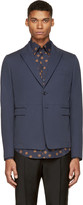 Dolce & Gabbana Blue Cotton Blazer