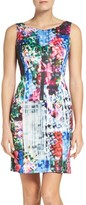 Adrianna Papell Women's Print Scuba A-Line Dress