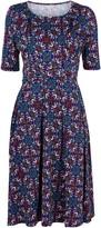 Wallis **Jolie Moi Purple Midi Dress