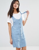 Noisy May Pocket Front Denim Dress