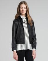 Alice + Olivia Zeanah Leather Jacket