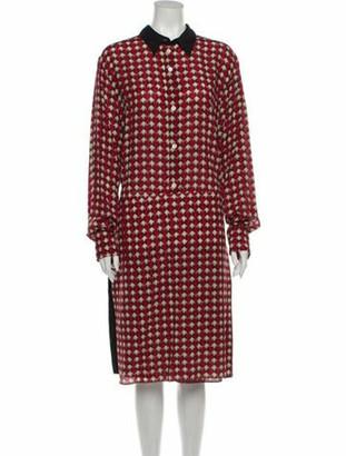 Marni 2019 Midi Length Dress w/ Tags Red