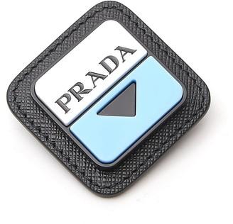 Prada Logo Embossed Brooch