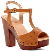Top Moda Wooden T-Strap Sandal