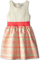 Us Angels Sleeveless Lace Bodice w/ Jacquard Full Skirt (Big Kids)