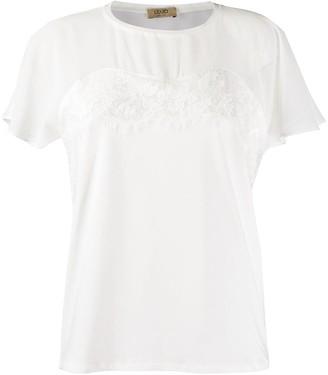 Liu Jo sweetheart panelled lace trim top