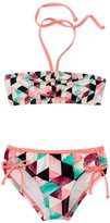 Hurley Girls' Prism Bandeau Top Tunnel Bottom Bikini Set (4T6x) - 8124685