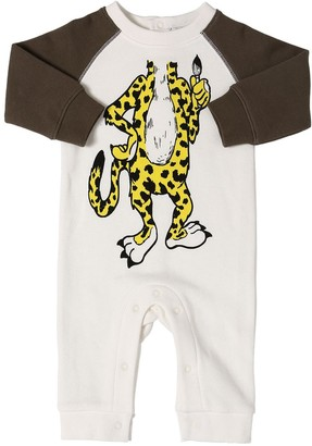 Stella Mccartney Kids Tiger Print Organic Cotton Romper