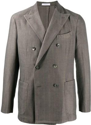 Boglioli Double Breasted Herringbone Jacket