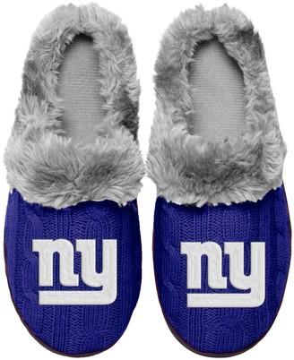 Women's New York Giants Cable Knit Slide Slippers