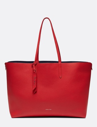 Draper James Leather and Suede Reversible Tote
