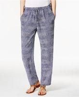 MICHAEL Michael Kors Zephyr Printed Tie-Waist Soft Pants