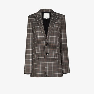 Tibi Checked button-up blazer
